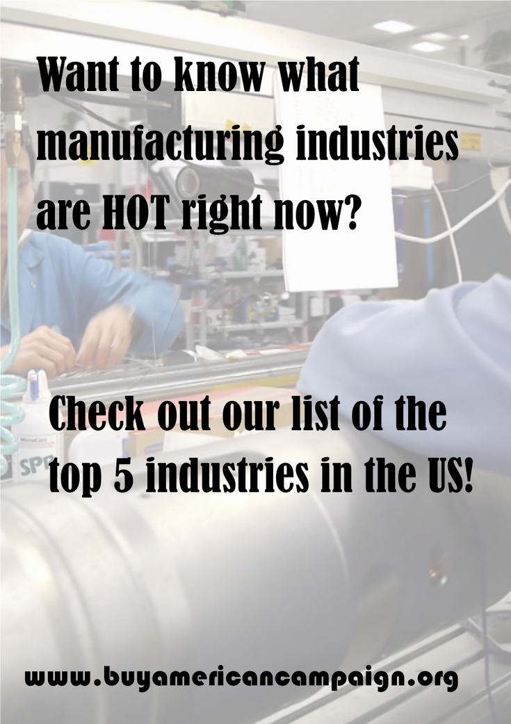 US manufacturing industries