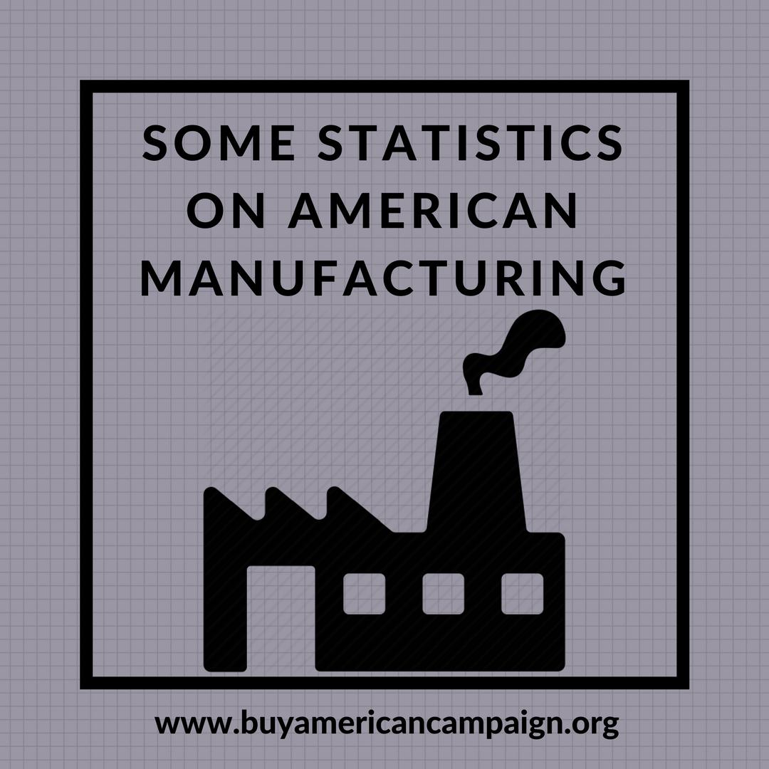 American manufacturing statistics