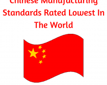 Chinese Manufacturing Standards Rated Lowest In The World